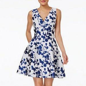 Betsy Johnson Dress Blue White Floral Size 8